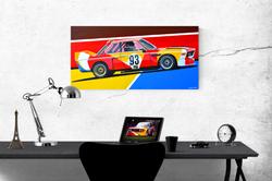 1975 ALEXANDER CALDER BMW E9 3.0 CSL ARTWORK | ACRYLIC PAINTING