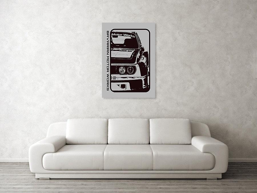 BMW E9 3.0 CSL ART PRINT | BMW E9 3.0 CSL POSTER | BMW E9 3.0 CSL WALL ART