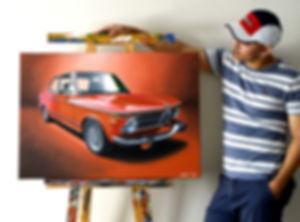 BMW 2002 ARTWORK | ACRYLIC PAINTING