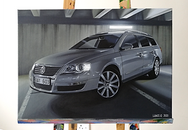 VW PASSAT B6 WAGON ARTWORK | PAINTING