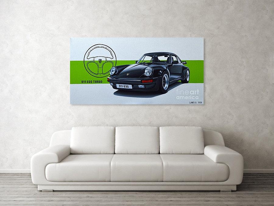 PORSCHE 911 930 TURBO ART PRINT | PORSCHE 911 930 TURBO POSTER |PORSCHE 911 930 TURBO WALL ART