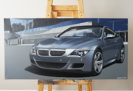 FROZEN GREY BMW E63 M6 ARTWORK/PAINTING