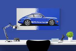 PORSCHE 911 964 ARTWORK | ACRYLIC PAINTING