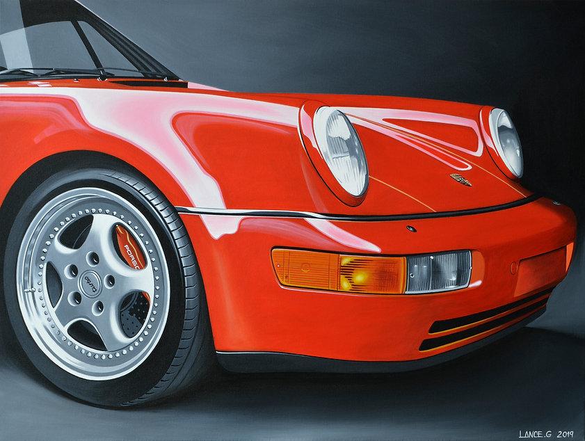 PORSCHE 911 964 ART PRINT