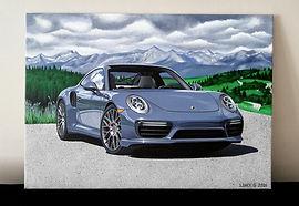 2017 PORSCHE 911 TURBO ART/PAINTING