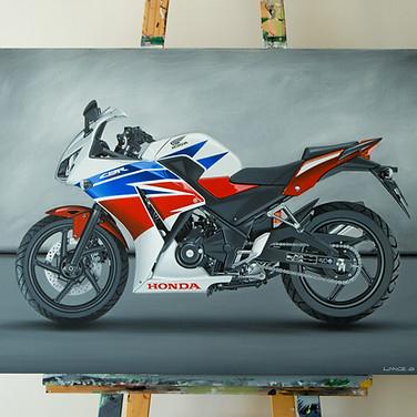 HONDA CBR300R MOTORCYCLE ARTWORK | ACRYLIC PAINTING