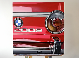 BMW 2002 REAR VIEW ARTWORK   ACRYLIC PAINTING