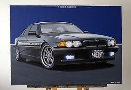 BMW 740il E38 ARTWORK   ACRYLIC PAINTING