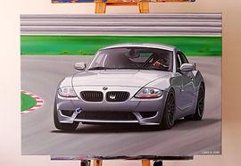 2007 BMW Z4M ARTWORK   ACRYLIC PAINTING