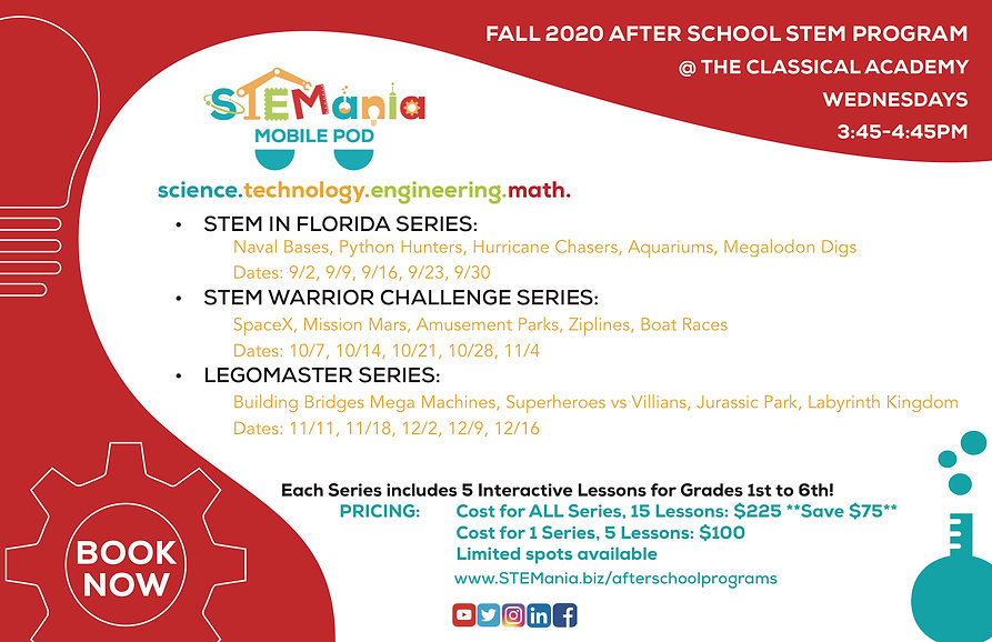STEMania_The Classical Academy Flyer_Fal