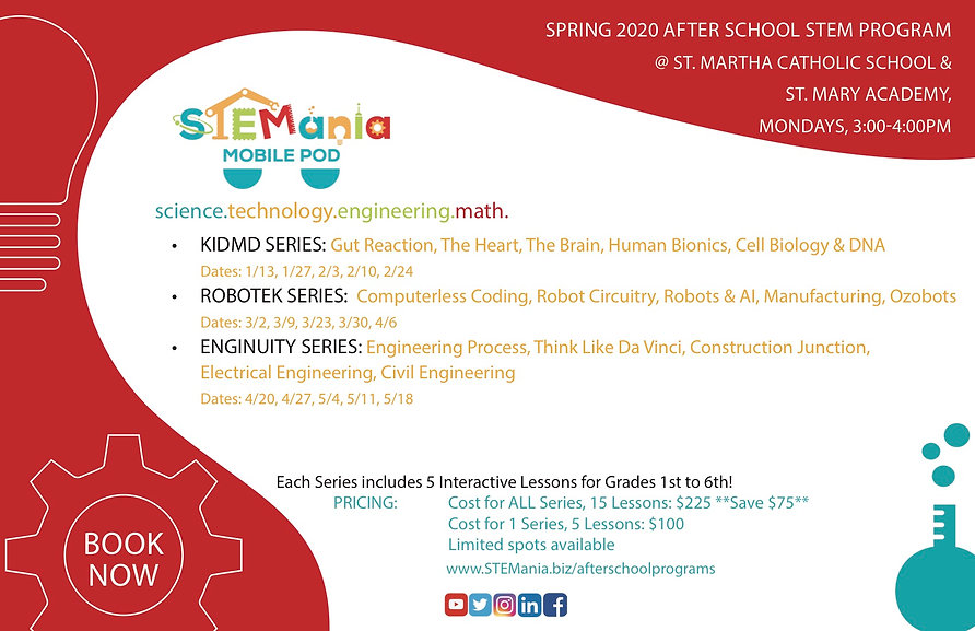 STEMania_St Mary.St.Martha Flyer_Spring