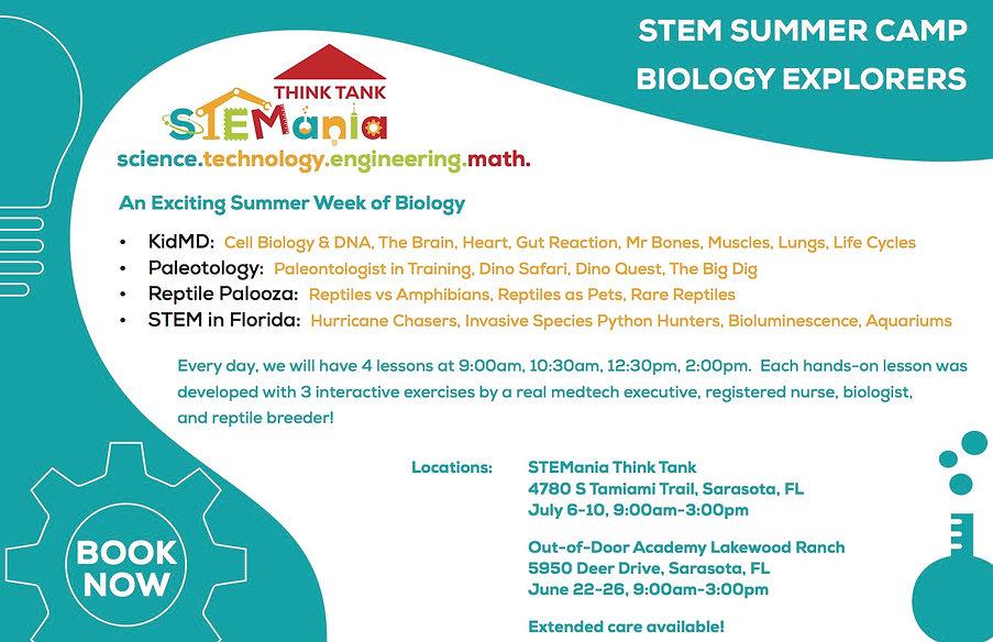 STEMania Summer Camp 5- Biology Explorer