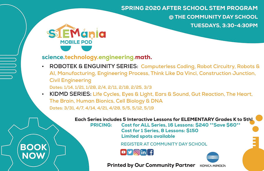 STEMania Community Day ES Flyer_Spring 2
