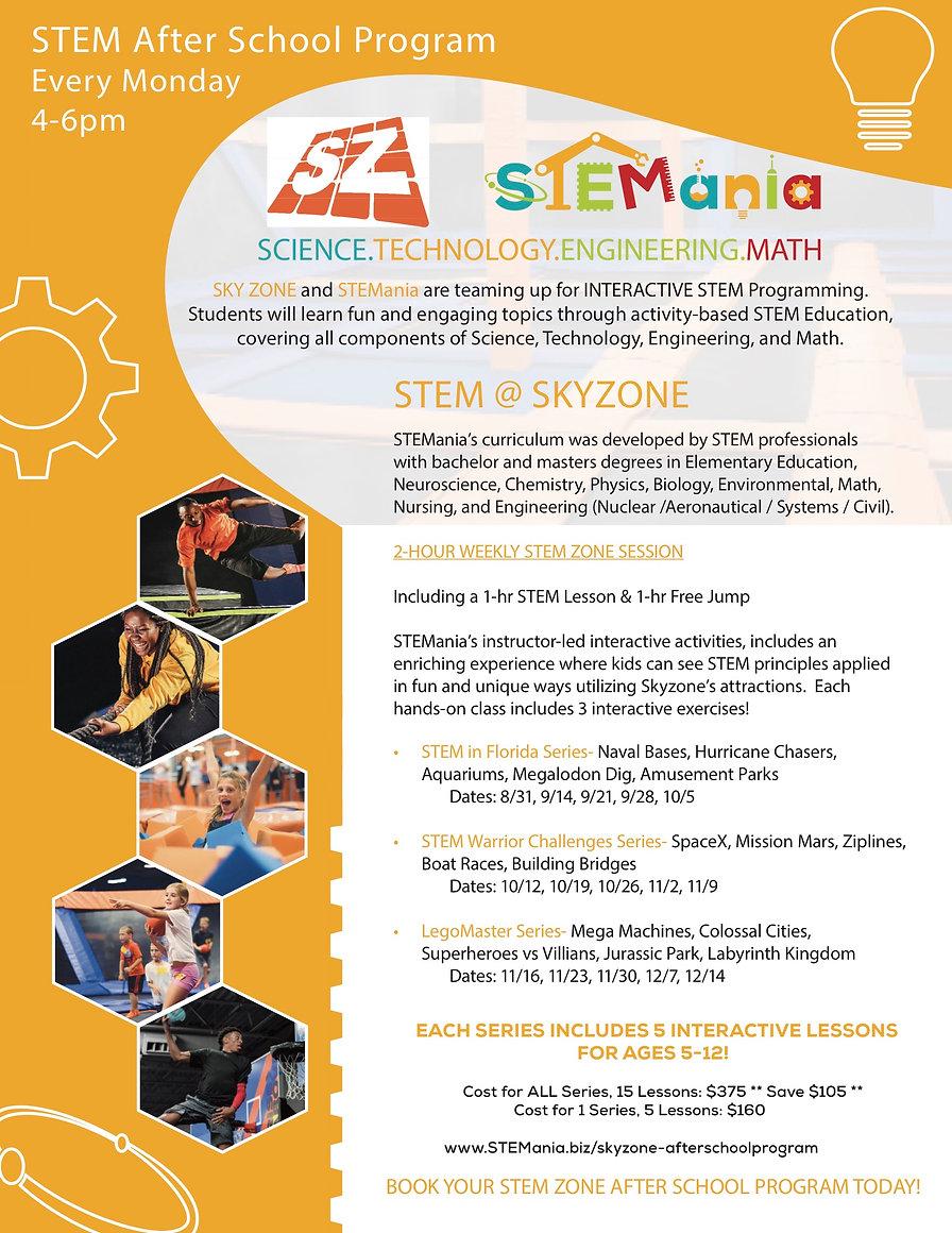 STEMania Skyzone Fall 2020 2.0v2020.08.1