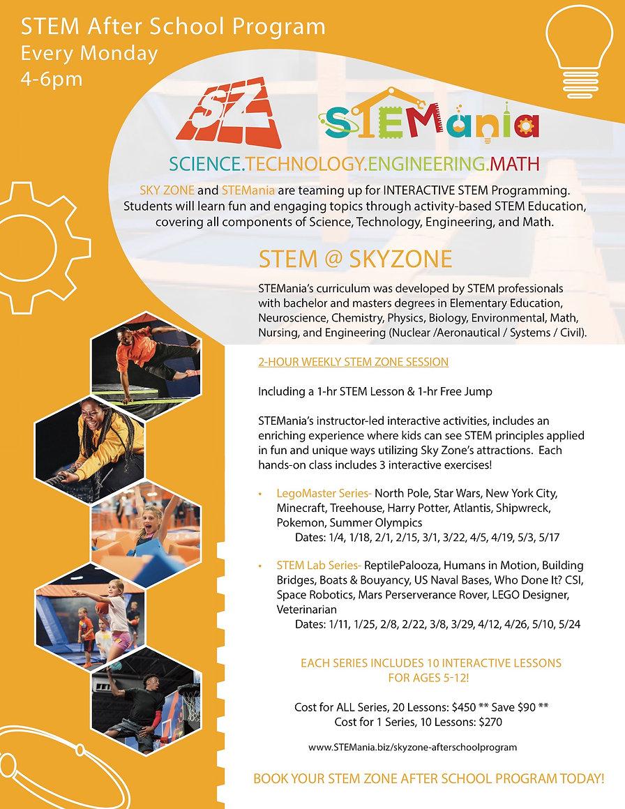 STEMania Skyzone Spring 2021 v2020.12.16