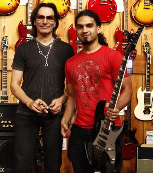 With Steve Vai at Guitar Center in Hollywood