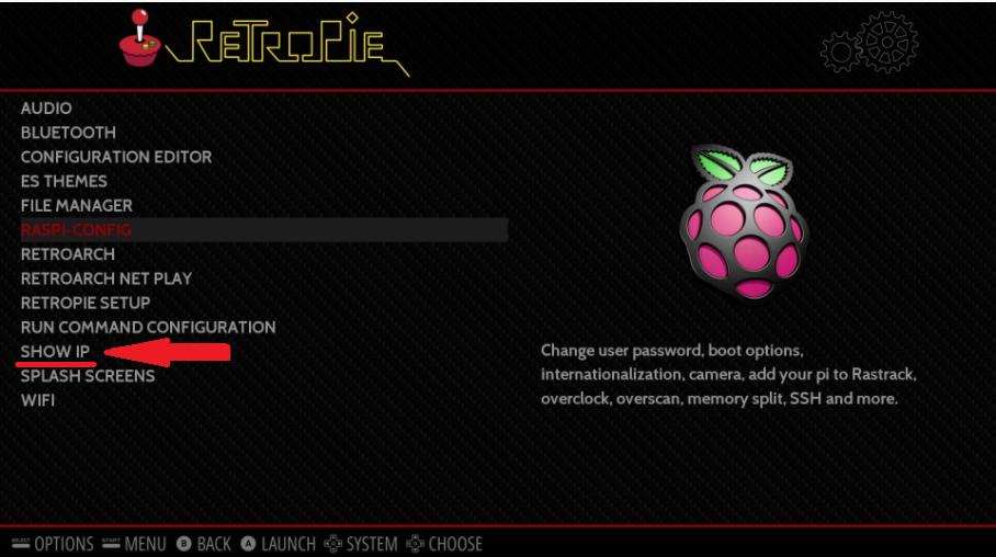 RetroPie - Show IP