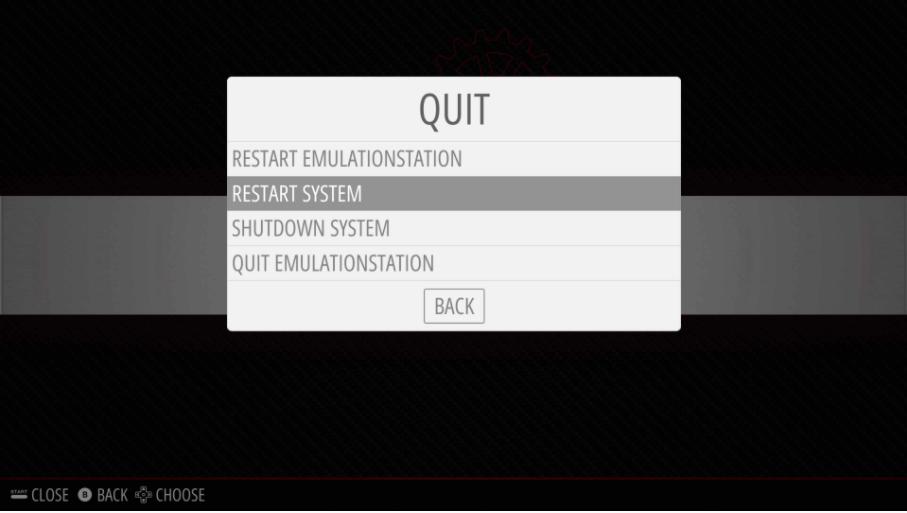 RetroPie - Reboot System