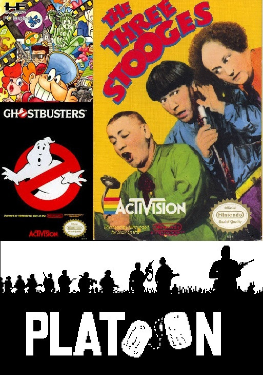 Shitty Game Pollyanna (Ghostbusters, Platoon, Three Stooges, and Photography Boy)