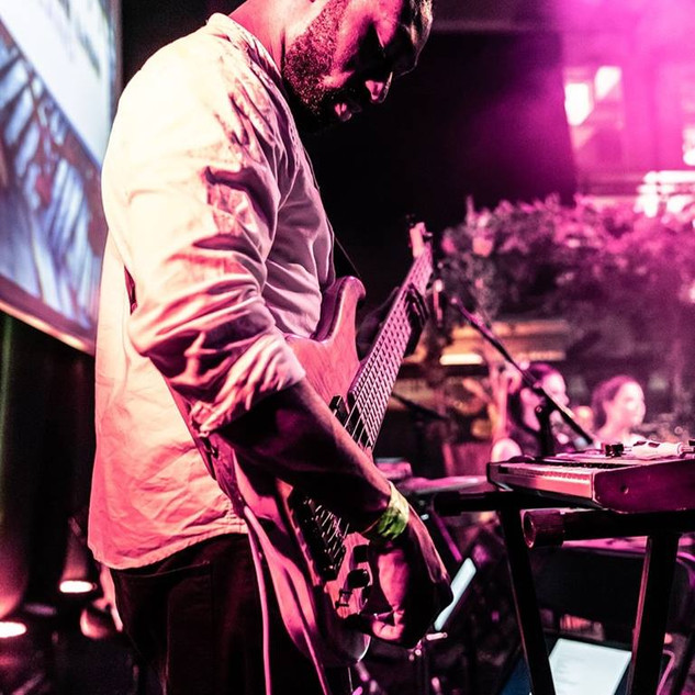Me playing with LRO at London Remixed Festival 2019