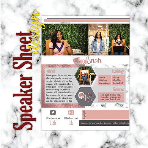 Ad/Speaker Sheet Design