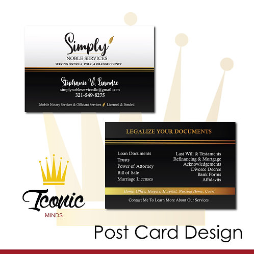 Post Card or Mailer Design