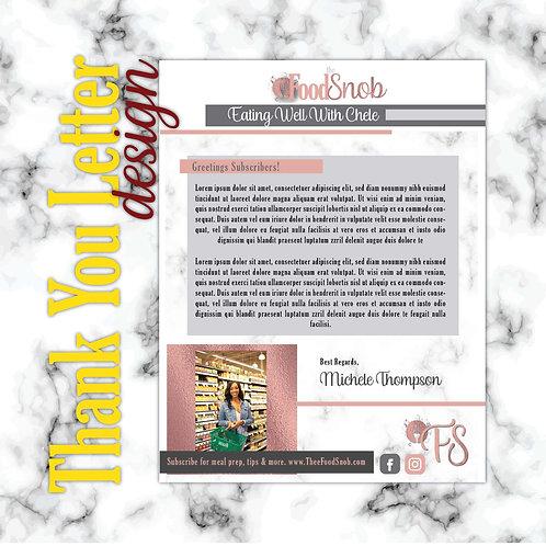 Letterhead - Thank You Letter
