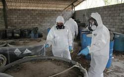 Investigadores y quimicos analizando
