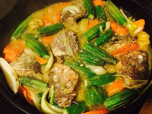 Steamed Fish & Okra