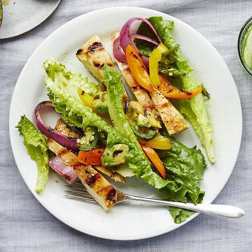 Chicken Fajita Salad with Lime-Cilantro Vinaigrette