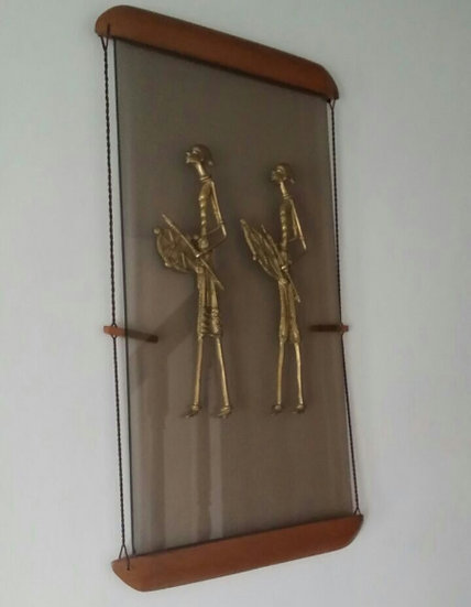 Massai men - craft wall hanging