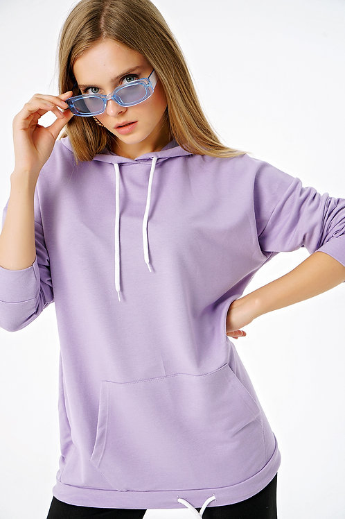 Kapüşonlu Kanguru Cepli Sweatshirt