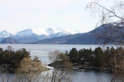 utsikt mot Folgefonna isbre