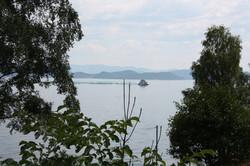 utsikt på veien ut til Laukhamar