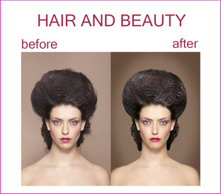 Samples of Retouching - Hair and Beauty
