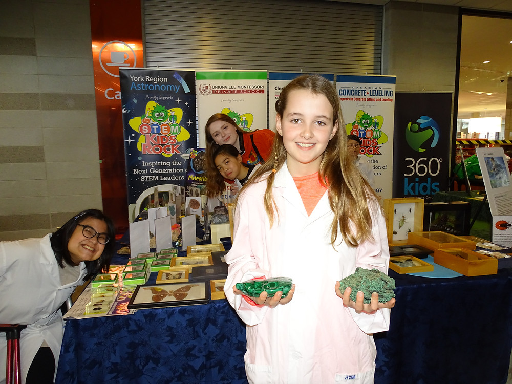 Ashley Wilkie at STEM Kids Rock Free Mobile Science Centre Event