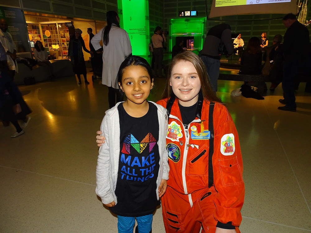 Ontario Science Centre Presenters Arushi Nath and Keeley Aird
