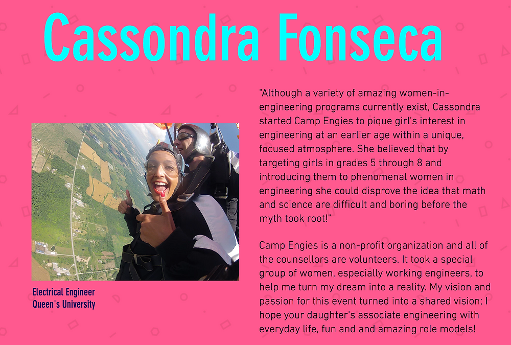 Cassondra Fonseca, Camp Engies Founder
