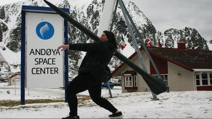 Megan Gran at the Andoya Space Centre