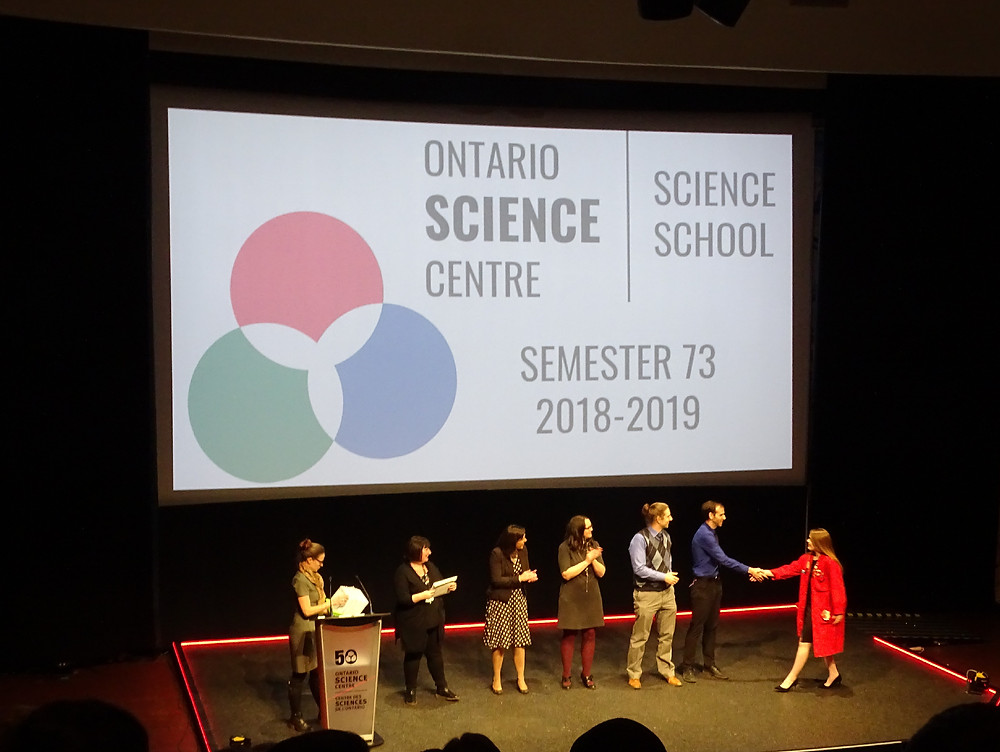 Keeley Aird Graduating from the Ontario Science Centre Science School