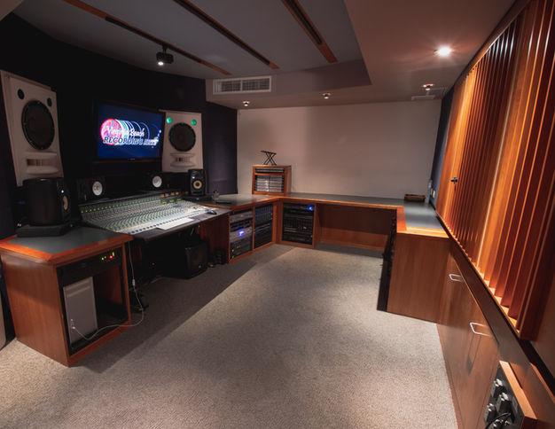 Virginia Beach Recording Arts Studio B Looking In From Entrance