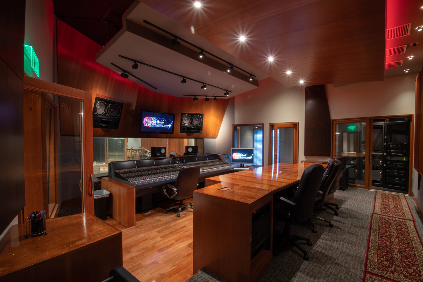 Virginia Beach Recording Arts Studio A Control Room 1