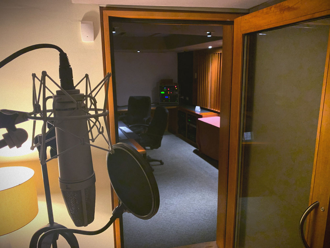 Virginia Beach Recording Arts Studio B View From Iso Booth Behind Mic