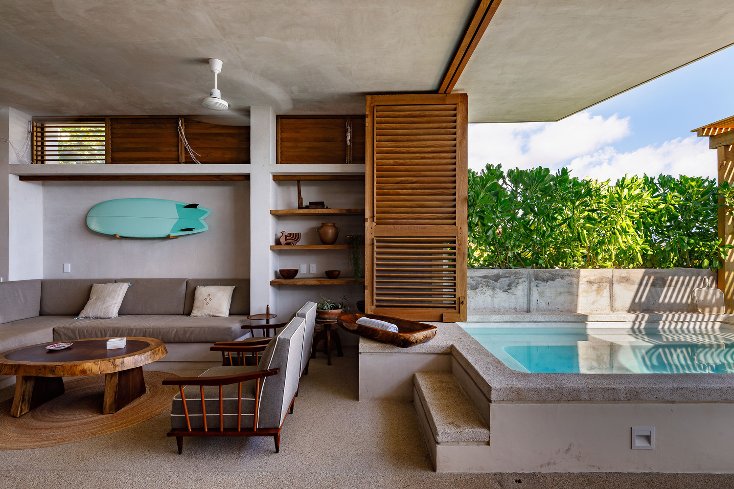 Pool and Livng Room
