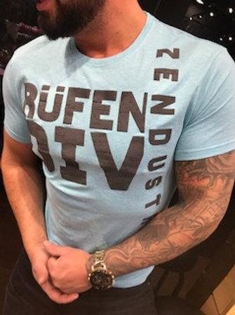 T-Shirt homme bleu pâle imprimé noir  Rufen