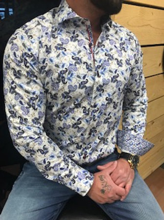 Chemise manches motifs paisley. 7 Downiest St