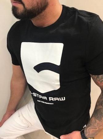 20  T-Shirt homme noir imprimé blanc  G-StarRaw