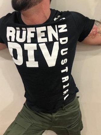 T-Shirt homme charbon imprimé blanc  Rufen