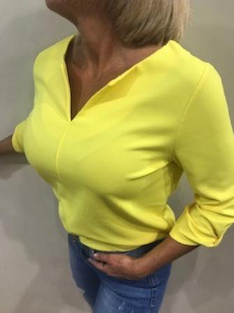 Top femme jaunes soleil manches 7/8  Garcia  1(XS) 2(S) 2(M)