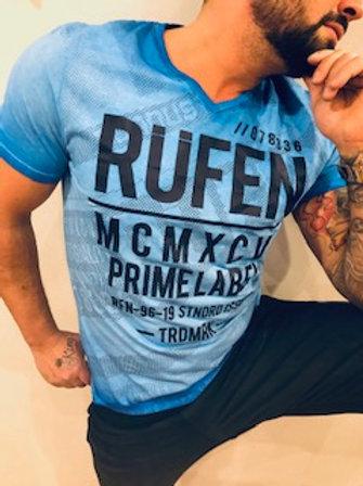 T-shirt homme bleu royal imprimé noir  Rufen